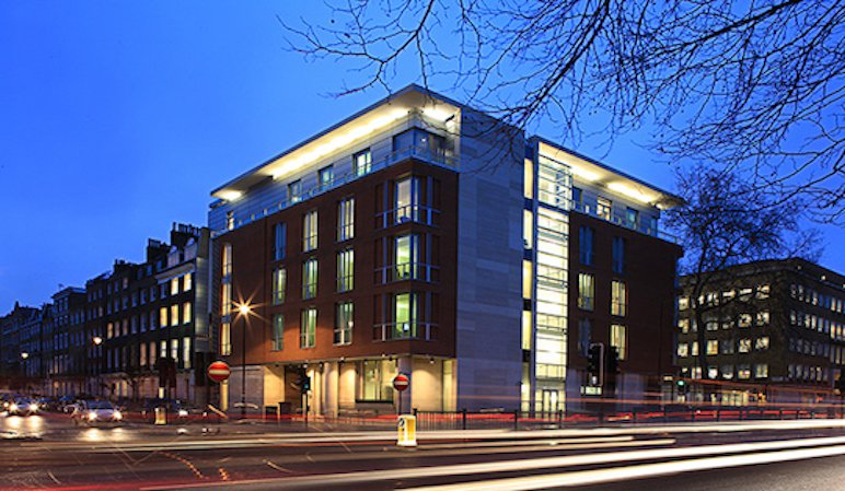 The London Clinic hospital.