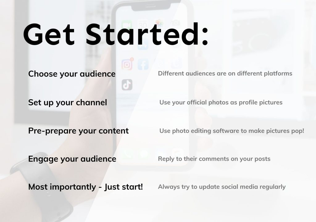 get started social media doctors dentists